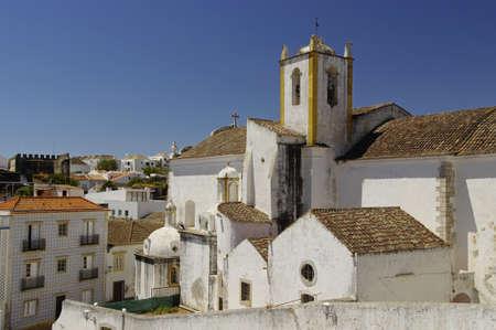 The beautiful church in Tavira, Algarve, Portugal Standard-Bild