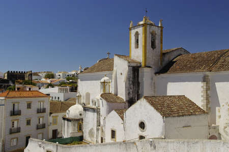 The beautiful church in Tavira, Algarve, Portugal Stock Photo