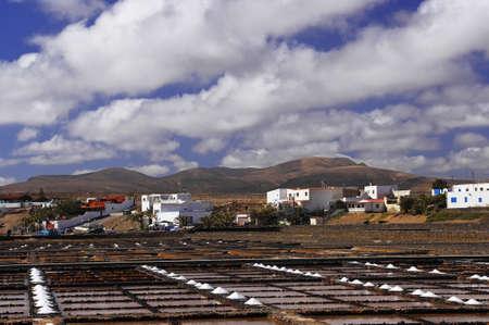 desalination: Salinas on the Fuerteventura island, Canary Islands, Spain Stock Photo
