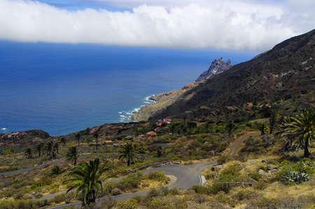 vallehermoso: The Arguamul coastline  view, La Gomera, Canary Island, Spain