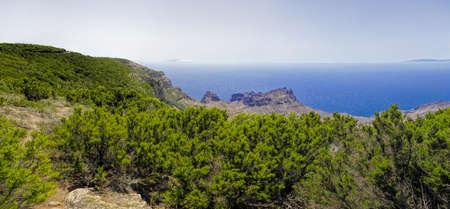 mirador: La Gomera. The view from Mirador de Alojera, Canary island, Spain Stock Photo
