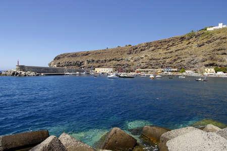 PLAYA DE  SANTIAGO, AUGUST 11, 2014; People take a sunbath on Playa de Santiago on August 11, 2014, La Gomera, Canary Island, Spain