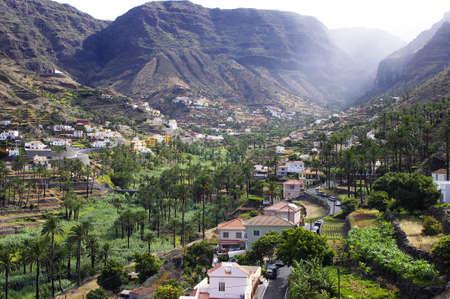 La Gomera island. The Valle Gran Rey, Canary, Spain photo