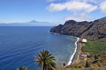 catalina: Playa Santa Catalina - Pescante de Hermigua, La Gomera Island, Canary, Spain Stock Photo