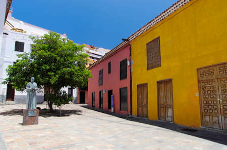 padilla: The statue in honor of Jose Torres Padilla, San Sebastian de Gomera, Canary island, Spain