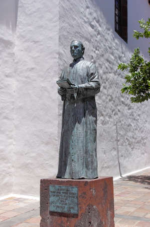 padilla: The statue in honor of Jose Torres Padilla, San Sebastian de Gomera, Canary island, Spain