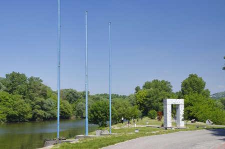 iron curtain: The Iron Curtain Monument, Bratislava, Slovakia