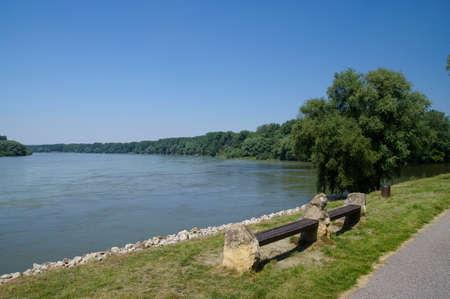 morava: The Danube river quay, Bratislava, Slovakia