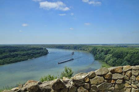 morava: The Danube quay river, Bratislava, Devin, Slovakia Stock Photo