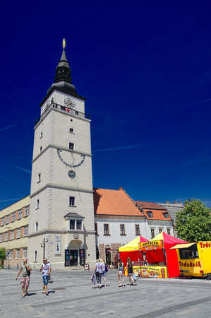 fortitude: TRNAVA, SLOVAKIA - JUNE 6: The main square of Trnava City on June 6, 2015, Town is located in southwestern Slovakia in the Little Carpathians