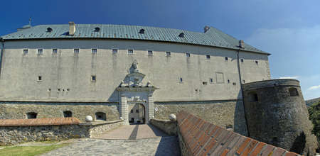 fortitude: The courtyard of Cerveny Kamen Castle located in southwestern Slovakia in the Little Carpathians near the Casta village.