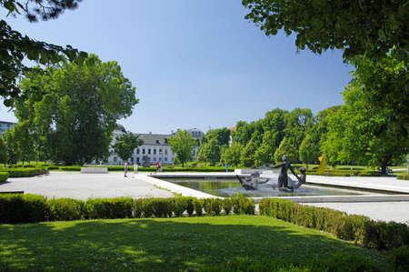 morava: BRATISLAVA, SLOVAKIA - JUNE 6: The Garden of Bratislava-Presidential Palace on June 6, 2015 in Bratislava, Slovakia