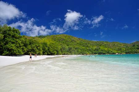 lazio: Anse Lazio beach at Praslin island, Seychelles.