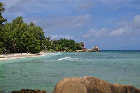 digue: The Severe beach at island La Digue, Seychelles