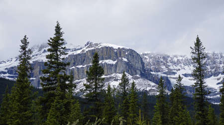 icefield: Icefield Parkway in Jasper National Park, Alberta, Canada Stock Photo
