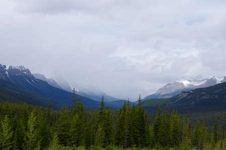icefield: Icefield Parkway in Jasper National Park, Alberta, Canada Editorial