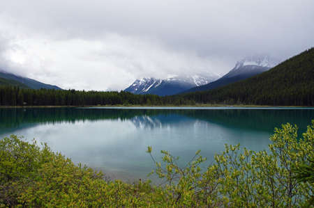 A lake on the Smith Dorrien Spray Trail in Kananaskis, Alberta Western Canada