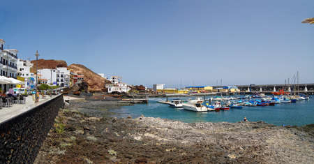 privileged: La Restinga, seaside village in the south of the El Hierro, privileged region for diving. Canary island, Spain