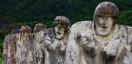 Martinique, Cap 110 - slave memorial near the Le diamant city in West Indies region