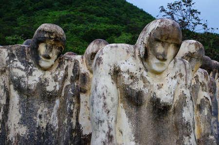 le cap: Martinica, Cap 110 - memorial de esclavos cerca de la ciudad de Le Diamant en la región de las Indias Occidentales