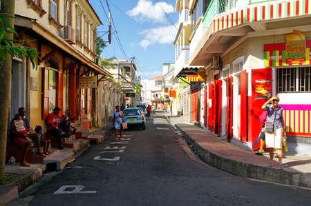 ROSEAU, DOMINICA - JANUARY 5, 2017 - The street life of Roseau city on January 5, 2017. Roseau is the capital of Dominica island, Lesser antylles
