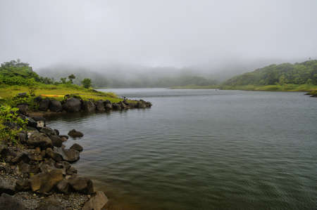 appears: The Freshwater Lake, Morne Trois Pitons National Park (UNESCO Heritage Site), Dominica. Lesser Antilles