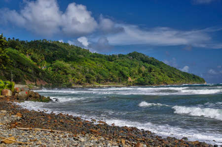 The Pagua bay on Dominica island, Lesser Antilles Stock Photo