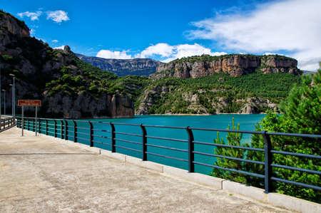 Dam on the llosa del Cavall, Catalonia, Spain