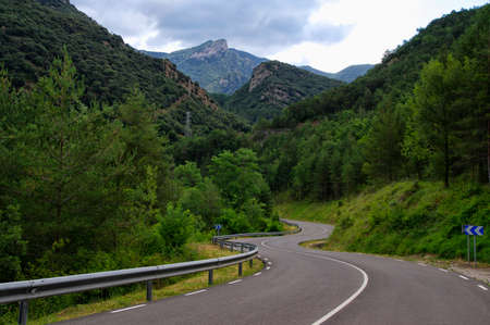 Road along the Lago Bonito, Cercs, Catalonia, Spain