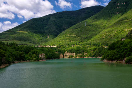 The Lago Bonito, Cercs, Catalonia, Spain Stock Photo