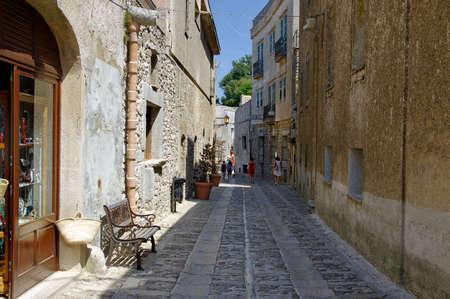 Main street of Erice near Trapani, Sicily, Italy Editorial