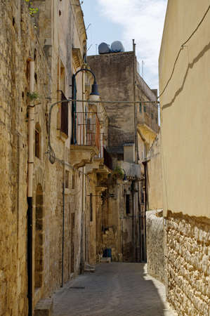 Main street of Erice near Trapani, Sicily, Italy Stock Photo