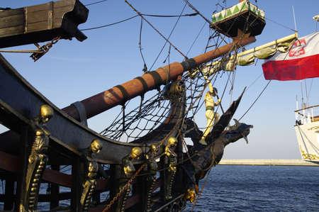 Tourist ship in Gdynia