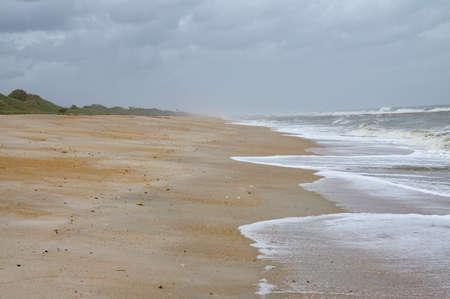 Beautiful North Beach Guana River Preserve on the east coast, Florida State, USA