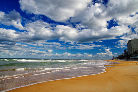 The Blue sky over Daytona Beach, Florida, USA Stock Photo