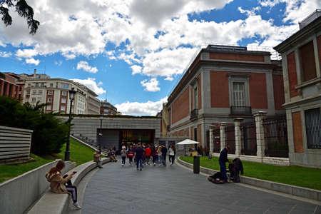MADRID / SPAIN - APRIL 11, 2019 - Main entrance leading to the Prado Museum a major cultural landmark in Madrid Standard-Bild - 137014186