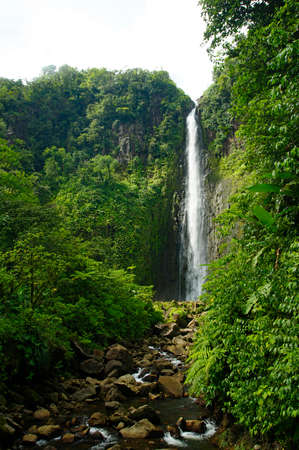 Chute du Carbet - The waterfalls group inside a tropical forest located in Basse-Terre, Guadeloupe