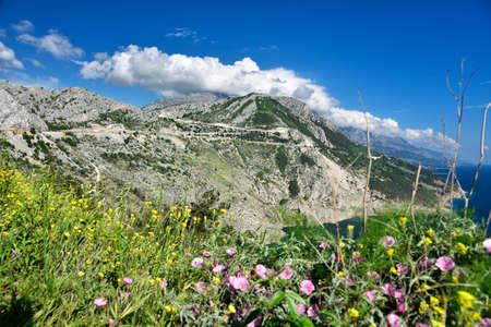 Beautiful Vruja Bay is situated halfway between Omis and Makarska, Croatia