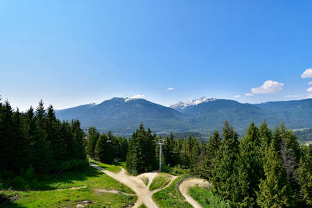 Coastal Mountains in British Columbia. Canada Standard-Bild