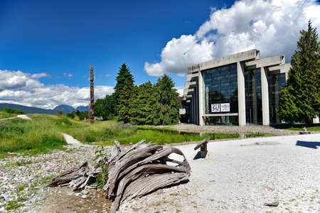 VANCOUVER, BC, CANADA, JUNE 03, 2019: The Museum of Anthropology at the University of British Columbia UBC campus in Vancouver, British Columbia, Canada. Editorial