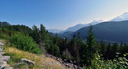 The Coastal Mountains in British Columbia. Canada Standard-Bild