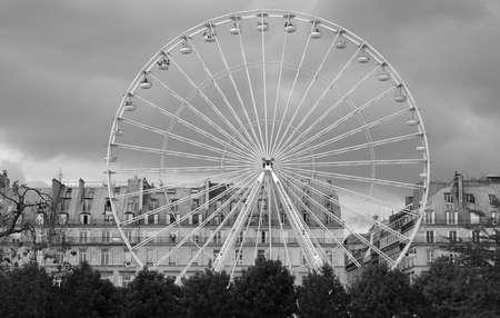 des: ferris wheel in the jardin des tuileries, paris, france