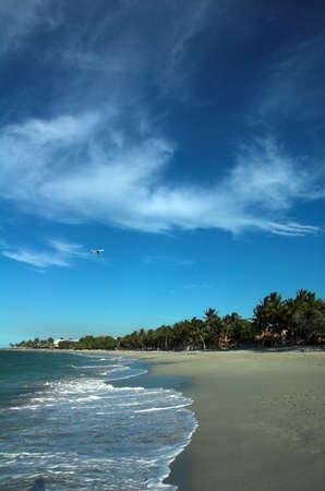 a plane over puerto plata, dominican republic photo