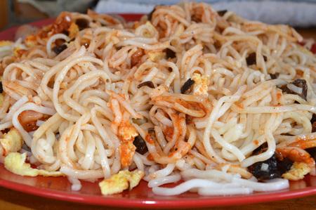 Spaghetti with homemade Bolognese sauce Фото со стока