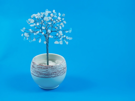 A white quartz - crystal tree