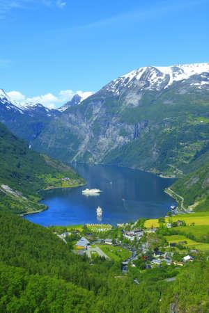 Nice View to the Atlantic ocean, Geiranger fjord