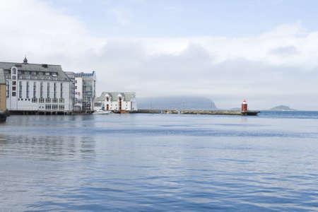 alesund: Alesund city, seaport of Norway