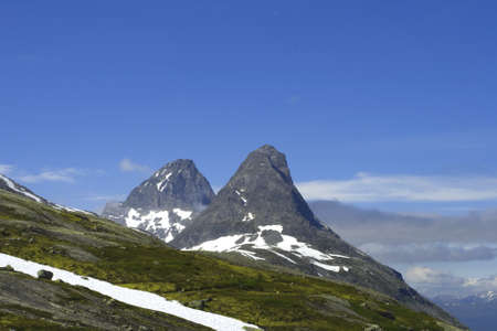 Two mountain tops, Norway, summer photo