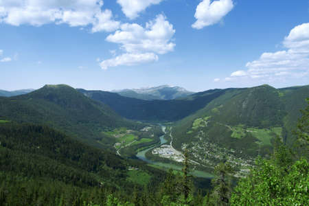 Mountain landscape, summer, sky, wonderful view
