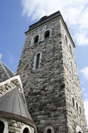 Ancient viking church in Norway, stone ancient building, Alesund